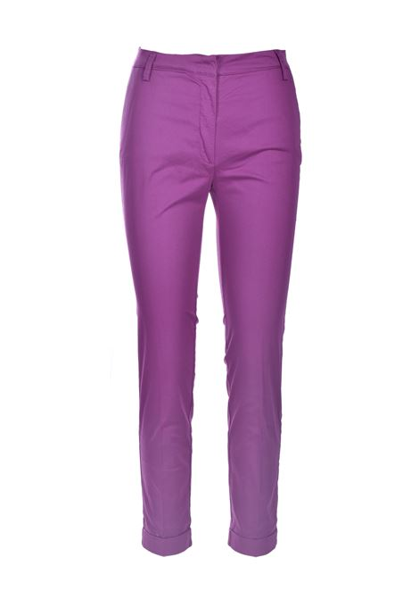 Grape gabardine chino trousers MANILA GRACE | Pants | P437CUMA004