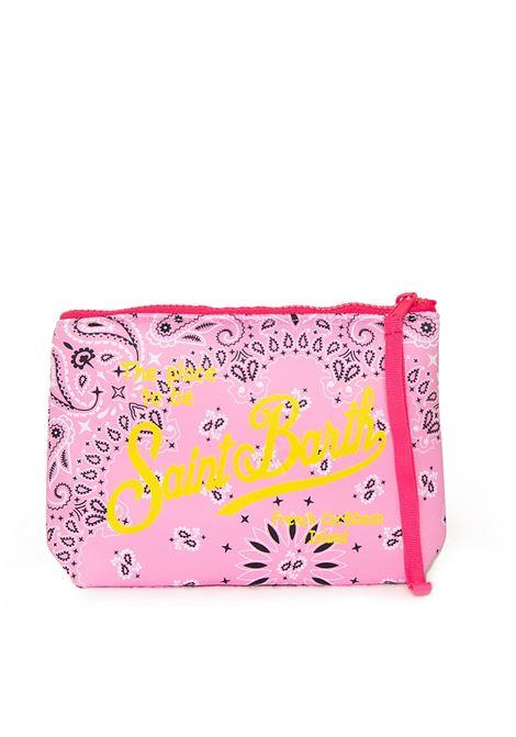 Clutch bag in scuba fabric with pink bandana print MC2 SAINT BARTH | Accessories | ALINEBNDR21