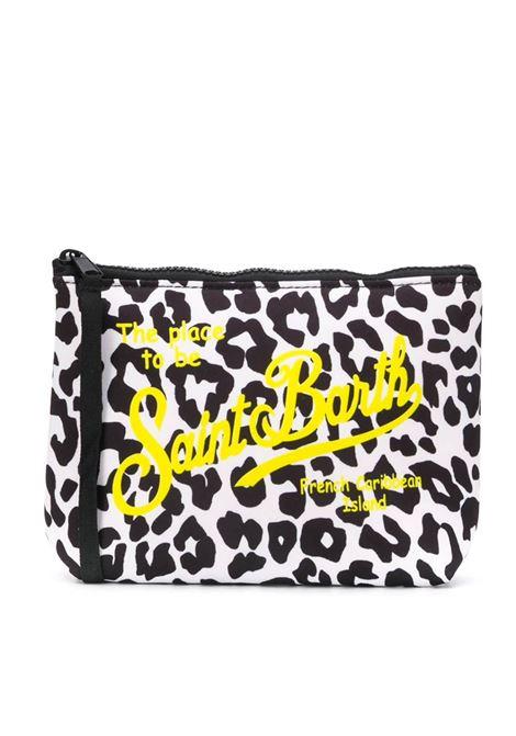 Clutch bag in leopard scuba fabric MC2 SAINT BARTH | Accessories | ALINELEOP94