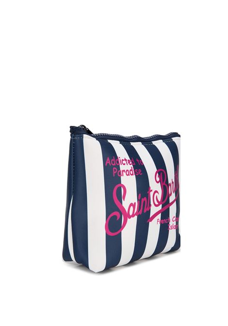 Pochette tessuto scuba righe blu MC2 SAINT BARTH | Accessori | ALINELIG61