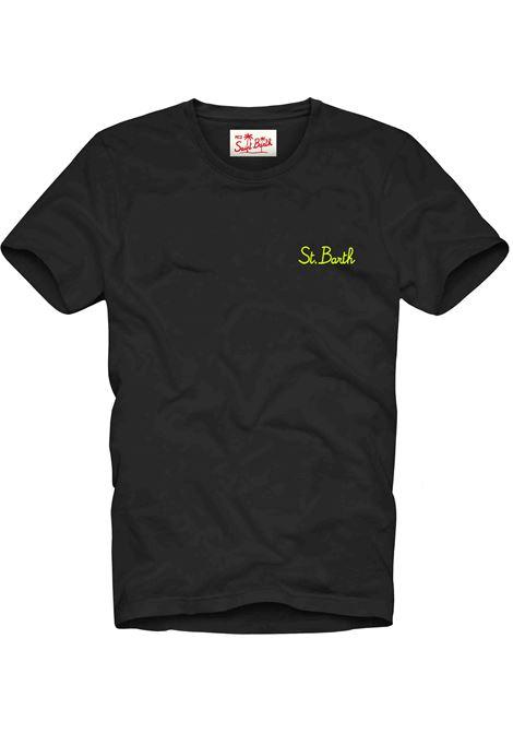 Men's black t-shirt with gradient effect MC2 SAINT BARTH | T-shirt | DOVERSB0001