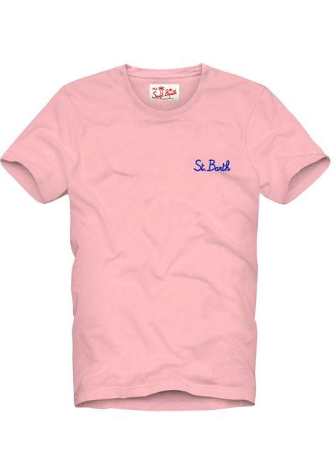 Men's pink t-shirt with gradient effect MC2 SAINT BARTH | T-shirt | DOVERSB2131