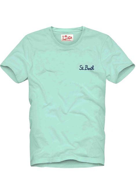 Light green men's t-shirt with gradient effect MC2 SAINT BARTH | T-shirt | DOVERSB5661