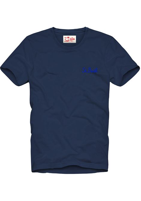 Dark blue men's t-shirt with gradient effect MC2 SAINT BARTH | T-shirt | DOVERSB6101