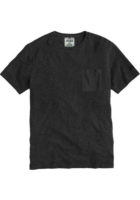 Men's black linen t-shirt MC2 SAINT BARTH | T-shirt | ECSTASEA00