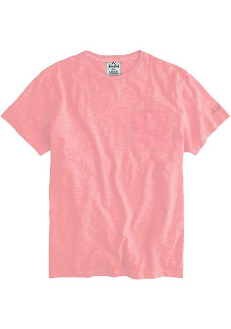 Men's pink linen t-shirt MC2 SAINT BARTH | T-shirt | ECSTASEA21