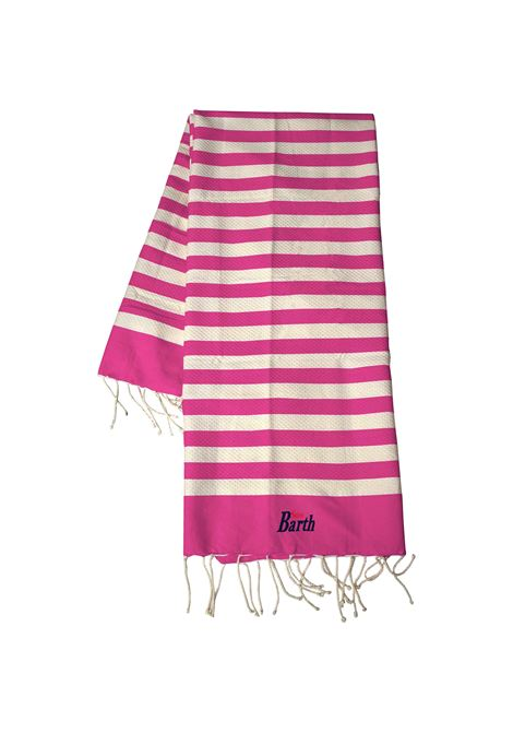 Striped cotton beach towel with fringes MC2 SAINT BARTH | Beach Towel | FOUTASLIG77