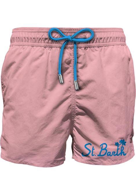 Costume mare rosa con taschino e ricamo St Barth MC2 SAINT BARTH | Costumi | GUSTAVIA POCKETESBP21