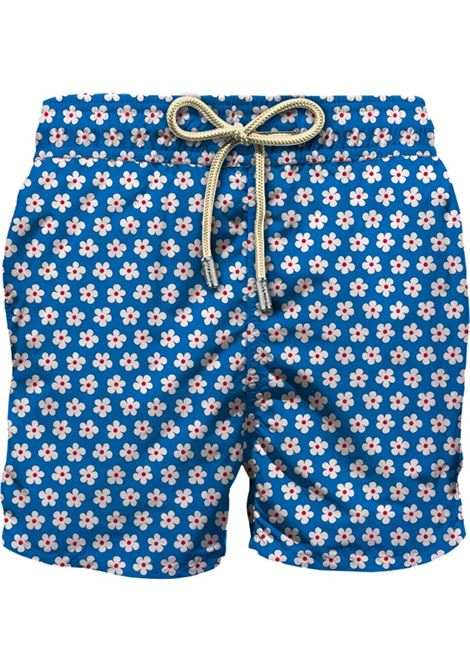 Swimsuit in light fabric with micro floral pattern MC2 SAINT BARTH | Beachwear | LIGHTING MICROASHL17