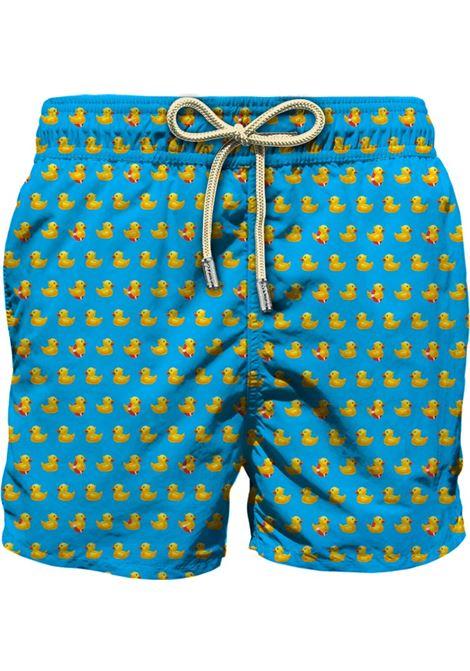 Swimsuit in light fabric with micro duck pattern MC2 SAINT BARTH | Beachwear | LIGHTING MICRODUC31