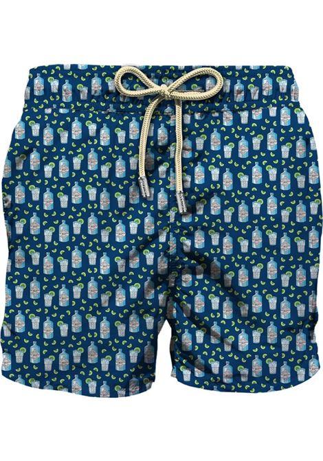 Swimsuit in light fabric with micro gin tonic pattern MC2 SAINT BARTH | Beachwear | LIGHTING MICROGINT61
