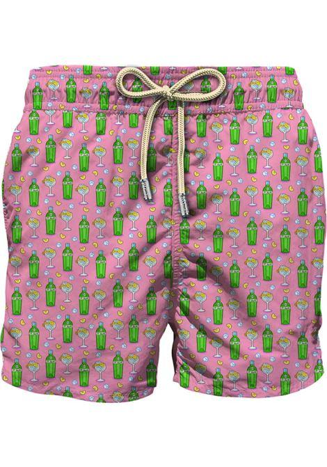 Swimsuit in light fabric with micro gin tonic pattern MC2 SAINT BARTH | Beachwear | LIGHTING MICROGNBL21