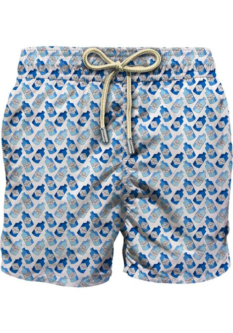 Swimsuit in light micro gin patterned fabric MC2 SAINT BARTH | Beachwear | LIGHTING MICROGNMN01