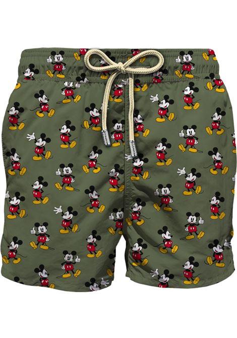 Swimsuit in light micro Mickey pattern fabric MC2 SAINT BARTH | Beachwear | LIGHTING MICROMIKL52