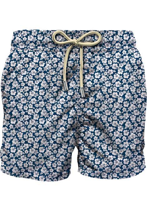 Swimsuit in ultra-light fabric with micro flower pattern MC2 SAINT BARTH | Beachwear | LIGHTING MICROMNCF61