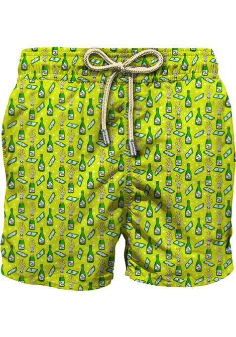 Swimsuit in ultra-light fabric with champagne and money micro pattern MC2 SAINT BARTH | Beachwear | LIGHTING MICROMOBU94