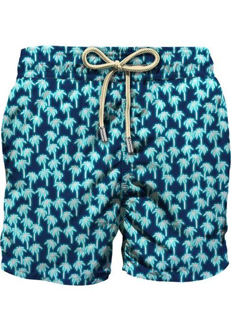 Swimsuit in ultra-light fabric with micro palm pattern MC2 SAINT BARTH | Beachwear | LIGHTING MICRONEPL63