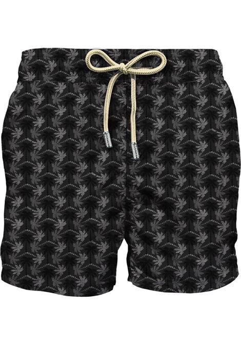 Swimsuit in ultra-light fabric with micro palm pattern MC2 SAINT BARTH | Beachwear | LIGHTING MICROSBMO00