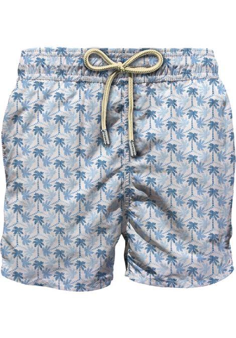 Swimsuit in ultra-light fabric with micro palm pattern MC2 SAINT BARTH | Beachwear | LIGHTING MICROSBMO01