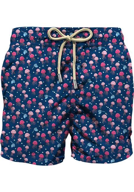 Swimsuit in ultra-light fabric with micro jellyfish pattern MC2 SAINT BARTH | Beachwear | LIGHTING MICROTRSQ61