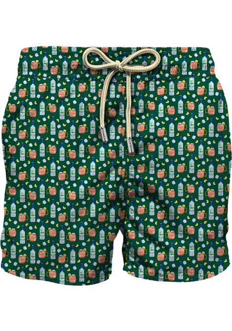 Swimsuit in ultra-light fabric with micro moscow mule pattern MC2 SAINT BARTH | Beachwear | LIGHTING MICROVOMU51