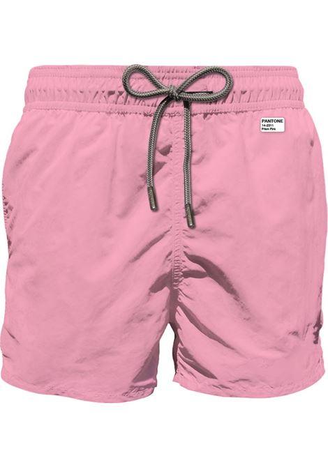 PANTONE® special edition pink lightweight fabric swim shorts MC2 SAINT BARTH | Beachwear | LIGHTING PANTONE21