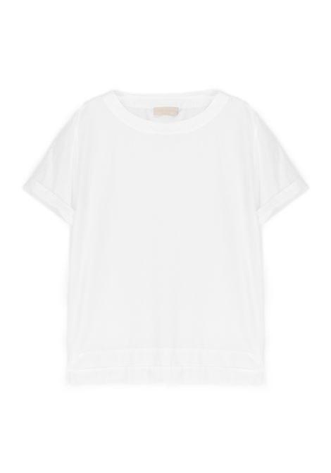 Blusa in cotone e seta bianco MOMONI | Bluse | MOBL0010016