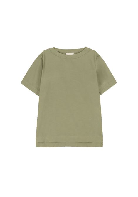 Sage green cotton and silk blouse MOMONI | Blouses | MOBL0010730