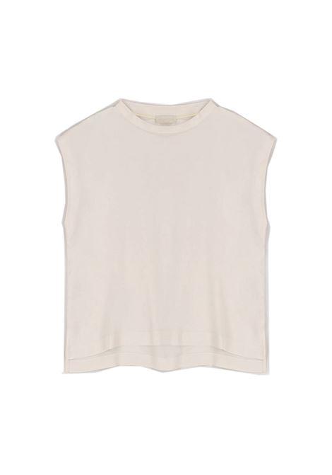 Cream Habutay silk blouse MOMONI | Blouses | MOBL0050040
