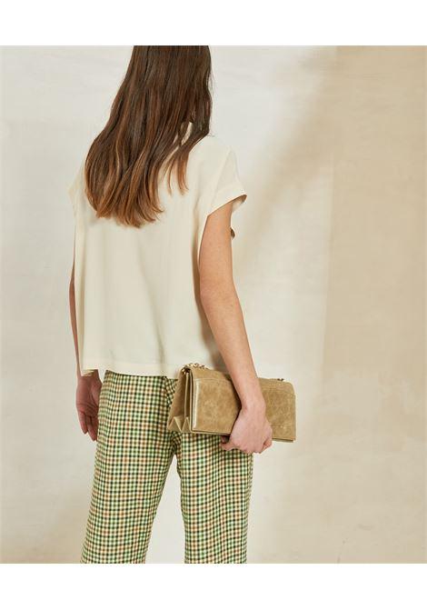 Blusa in seta Habutay panna MOMONI | Bluse | MOBL0050040