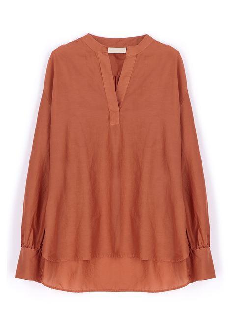 Blusa in misto seta ruggine MOMONI | Bluse | MOBL0060351