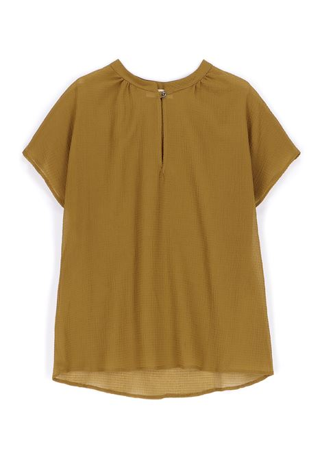 Blusa in voile seersucker olio MOMONI | Bluse | MOBL0070731