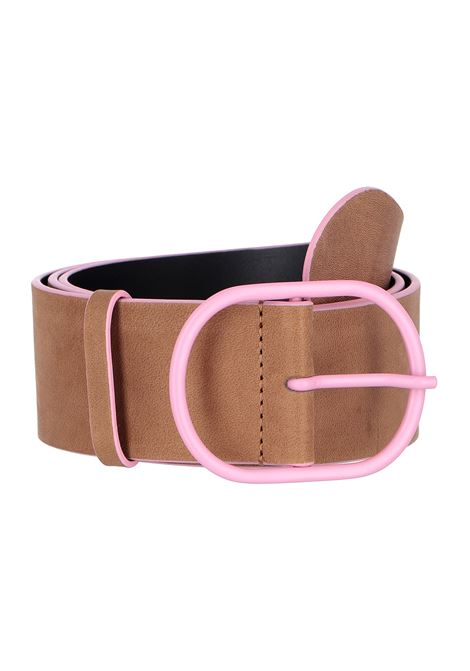 Leather belt with color contrasts MOMONI | Belt | MOBT0040153