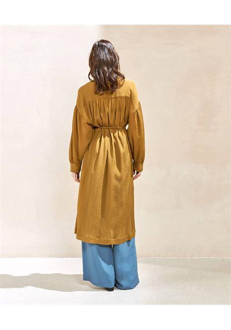 Duster in oil-colored seersucker voile MOMONI | Topcoat | MOCO0020455