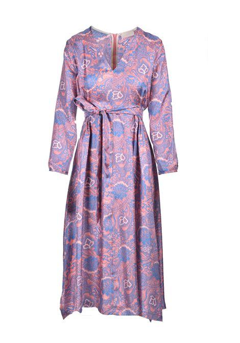 Vestito midi in twill di seta stampato MOMONI | Vestiti | MODR0044327