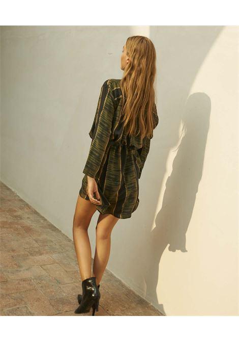 Crepe de chine dress with black and green print MOMONI |  | MODR0059007