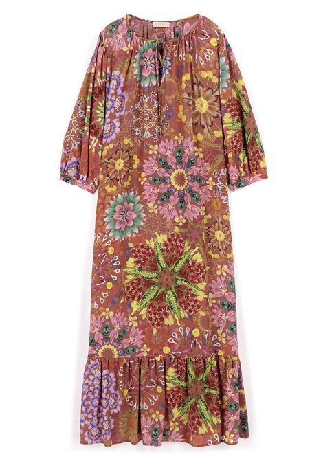 Vestito oversize in crepe de chine fantasia mattone MOMONI | Vestiti | MODR0086264