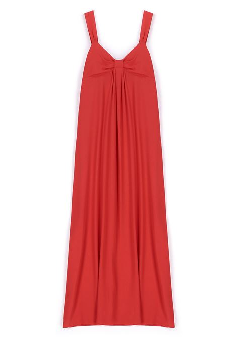 Long dress in red silk blend fabric MOMONI |  | MODR0130350