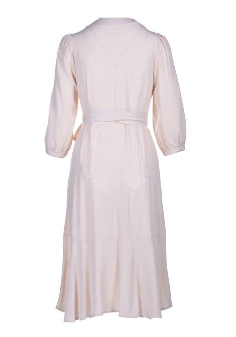 Vestito a portafoglio midi in crepe di seta MOMONI | Vestiti | MODR0150040