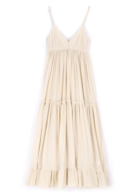 Light cream striped gauze dress MOMONI |  | MODR0230040
