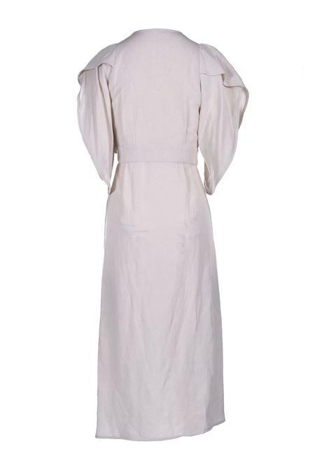Vestito a portafoglio in viscosa e lino MOMONI | Vestiti | MODR0260040