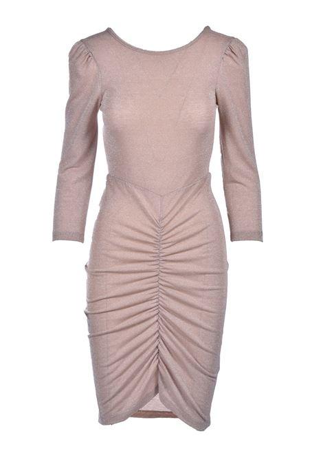 Bodycon dress in powder pink lurex jersey MOMONI |  | MODR0280400