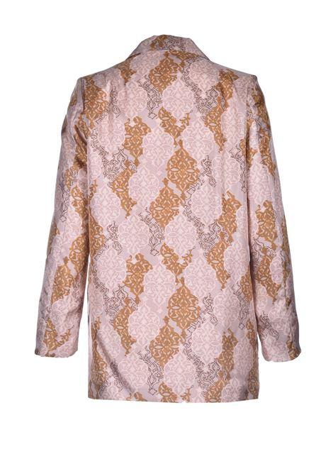 Printed silk twill jacket MOMONI | Blazers | MOJA0014126