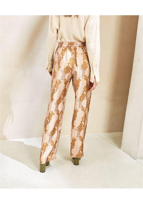 Powder twill and goose beak print trousers MOMONI | Pants | MOPA0014126