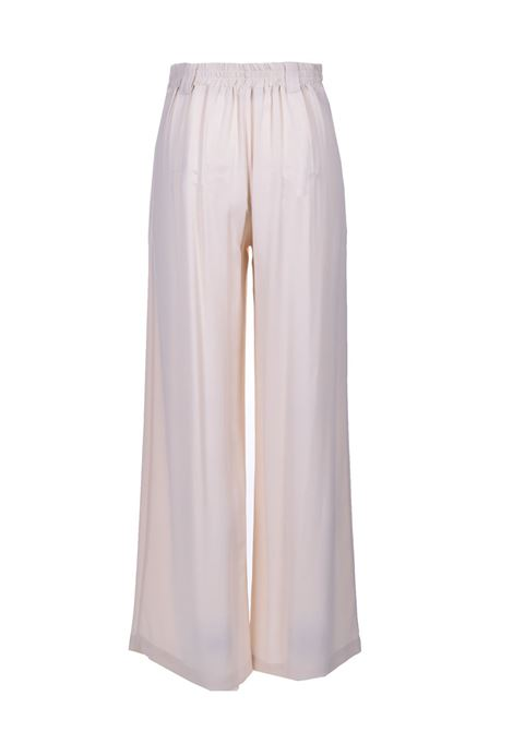 Trousers in cream silk blend fabric MOMONI | Pants | MOPA0030040