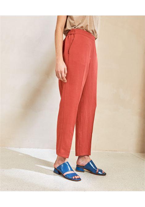 Trousers in  viscose and linen fabric MOMONI | Pants | MOPA0080410