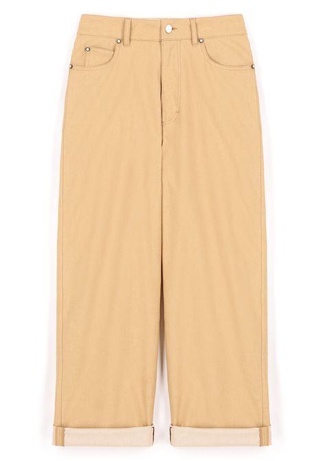 Pantalone in denim di cotone stretch giallo MOMONI | Pantaloni | MOPA0150260