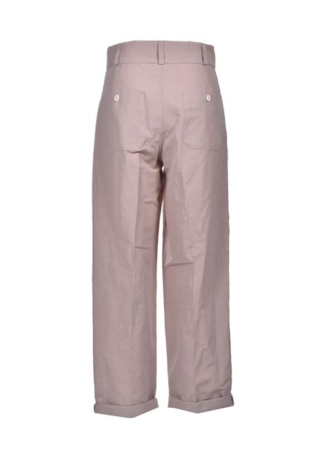 Sand linen and cotton trousers MOMONI | Pants | MOPA0180110