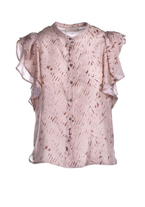 Camicia in seta con stampa habutay MOMONI | Camicie | MOSH0051082