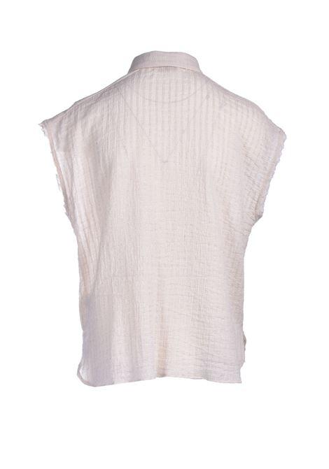 Cotton voile shirt with lurex stripes MOMONI | Shirts | MOSH0110040